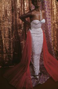 Joyce Bryant, gown by Zelda Wynn Valdez